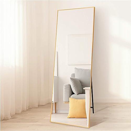 ZHUNFA Gold Full Length Mirror Floor Mirror