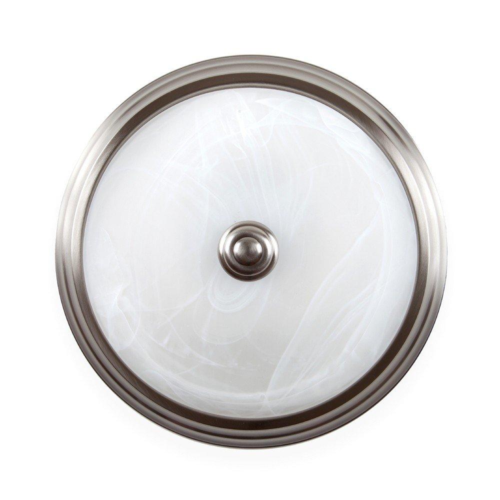 Designers Fountain LED1101-35 Halo 11-Inch LED Flushmount, Satin Platinum