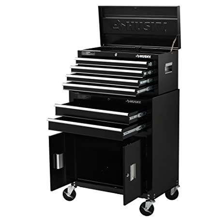 Husky Rolling Tool Chest Cabinet In Black (26 In. 6 Drawer)