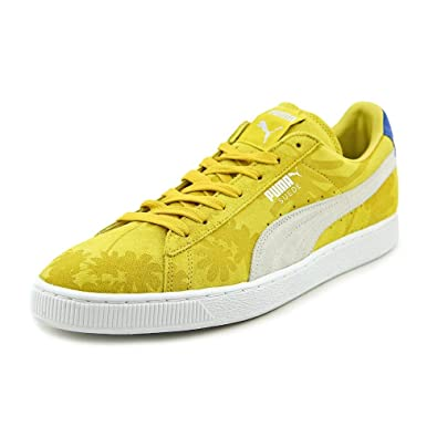 various colors 48a75 a9d1e PUMA Suede Classic Tropicalia Mens in Vibrant Yellow/White