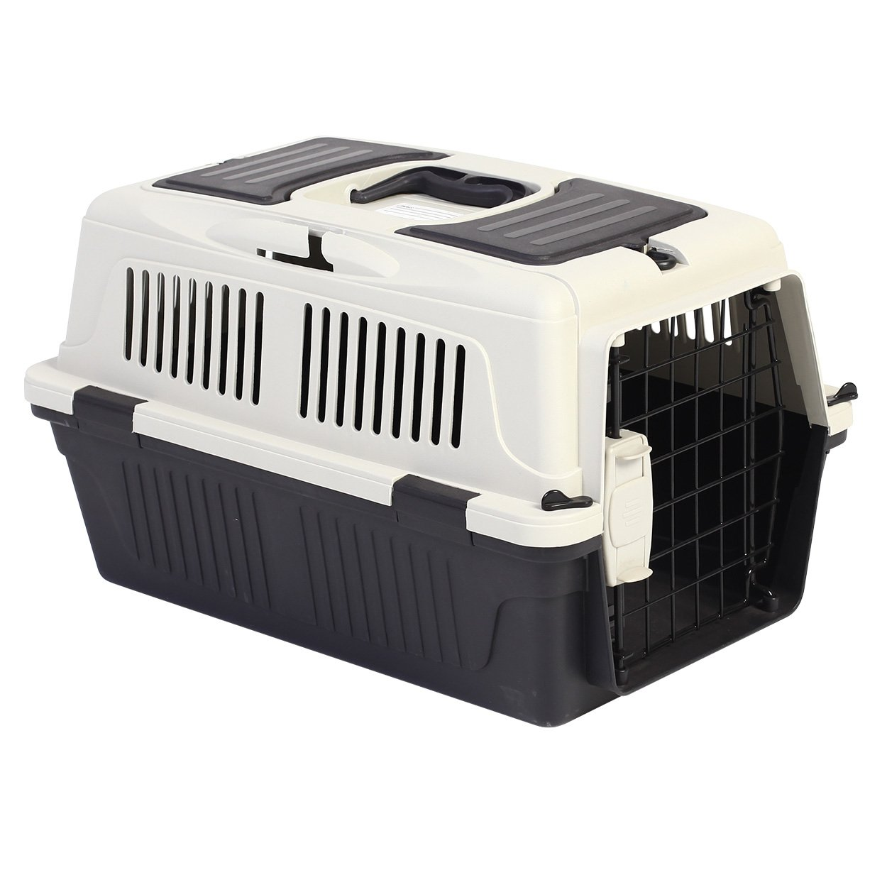 Animal Treasures PS7906 Deluxe Dog Kennel, X-Small/19, Gray/White