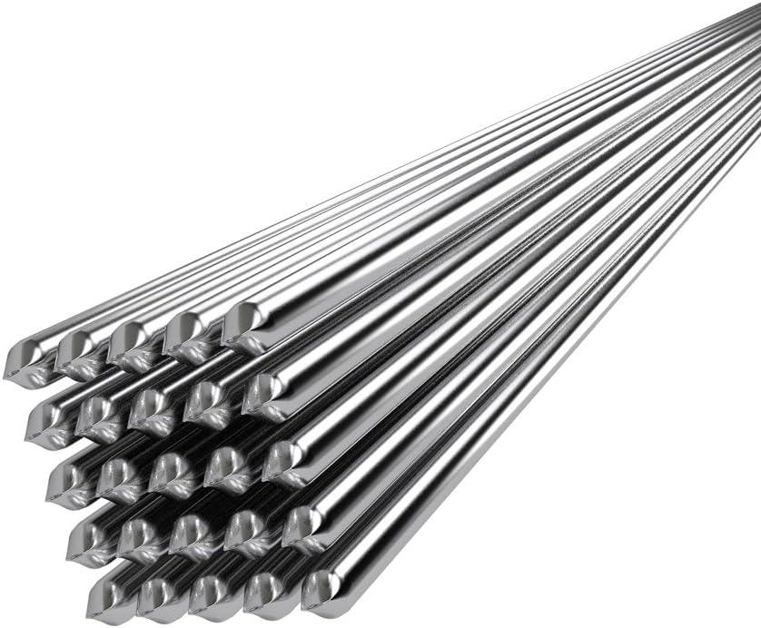 KKmoon 20PCS Alambre de soldadura de aluminio de baja temperatura con núcleo de flujo 2mm * 500mm Al soldar Rod sin necesidad de polvo de soldadura