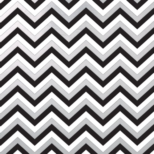 Jillson Roberts 24 Sheet-Count Premium Printed Tissue Paper Available in 15 Different Designs, Black and Silver Sophisticate Chevron - Sophisticate Design
