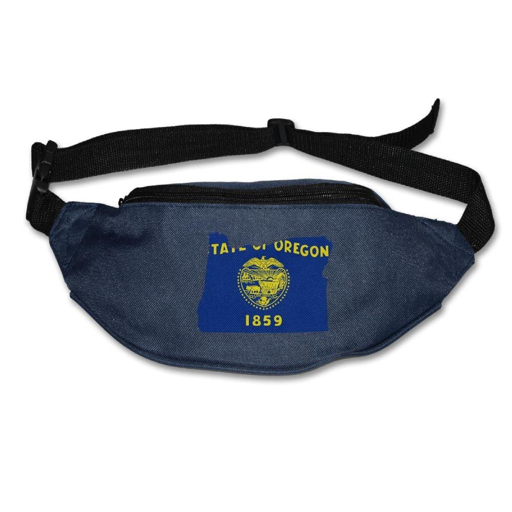 Heard Me Unisex Oregon State Map Fanny Pack Waist Packs Phone Holder Adjustable Running Belt For Cycling,Hiking,Gym