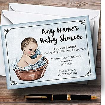 Custom Baby Boy Shower Invitations with Envelopes