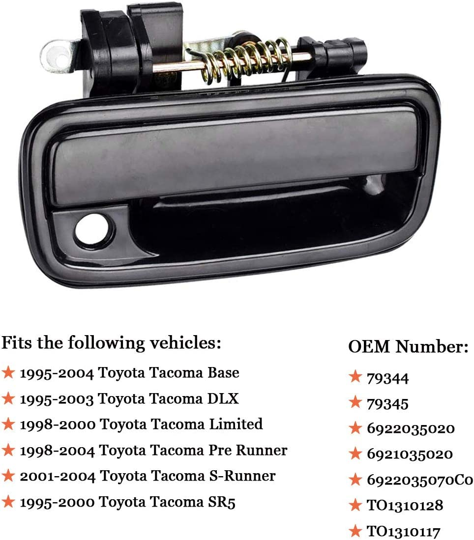 Exterior Outside Door Handle for Toyota Tacoma 1995 1996 1997 1998 1999 2000 2001 2002 2003 2004 6922035020 6921035020 2Pcs Front Driver /& Passenger Side Replacement