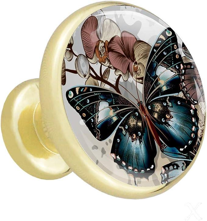 Las mariposas vuelan Perillas de los cajones perillas