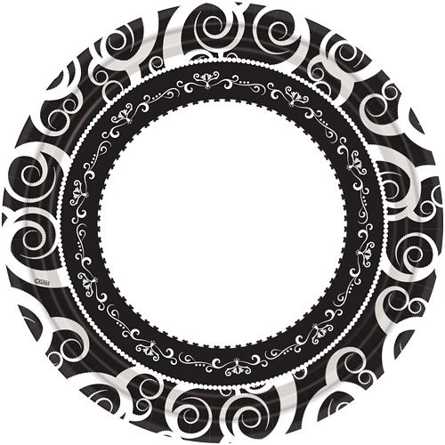 Hanna K. Signature Collection 18 Count Classic Medley Paper Plate, 10.25-Inch