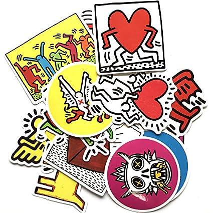 DADATU Pegatinas 14 Unids/Set Keith Haring Pegatinas para ...