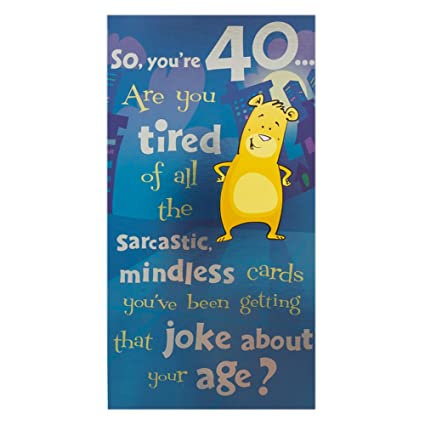 Amazon Hallmark 40th Birthday For Him Humour Foil Decoration