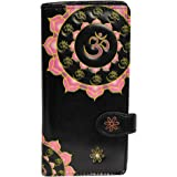 Shagwear Women's Large Clutch Wallets With Zipper Pocket Floral Designs