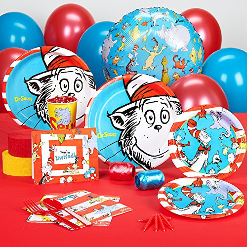 BirthdayExpress Dr Seuss Party Supplies - Standard Party Pack Bundle for 16
