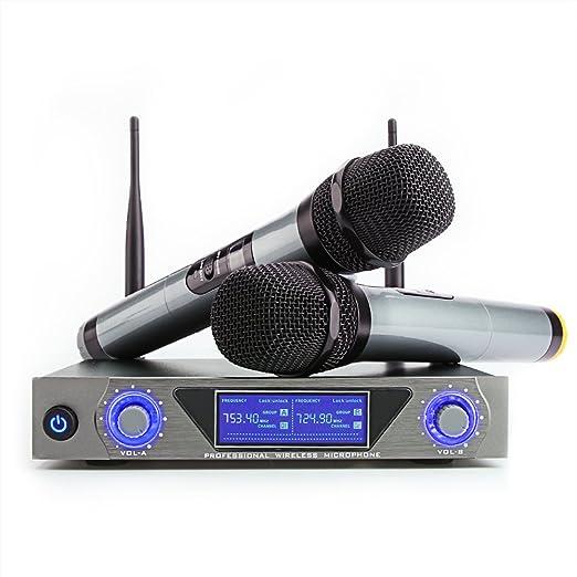 37 opinioni per UHF Professionale Dual Microfono Palmare Dinamico Sistema Microfono Wireless LCD