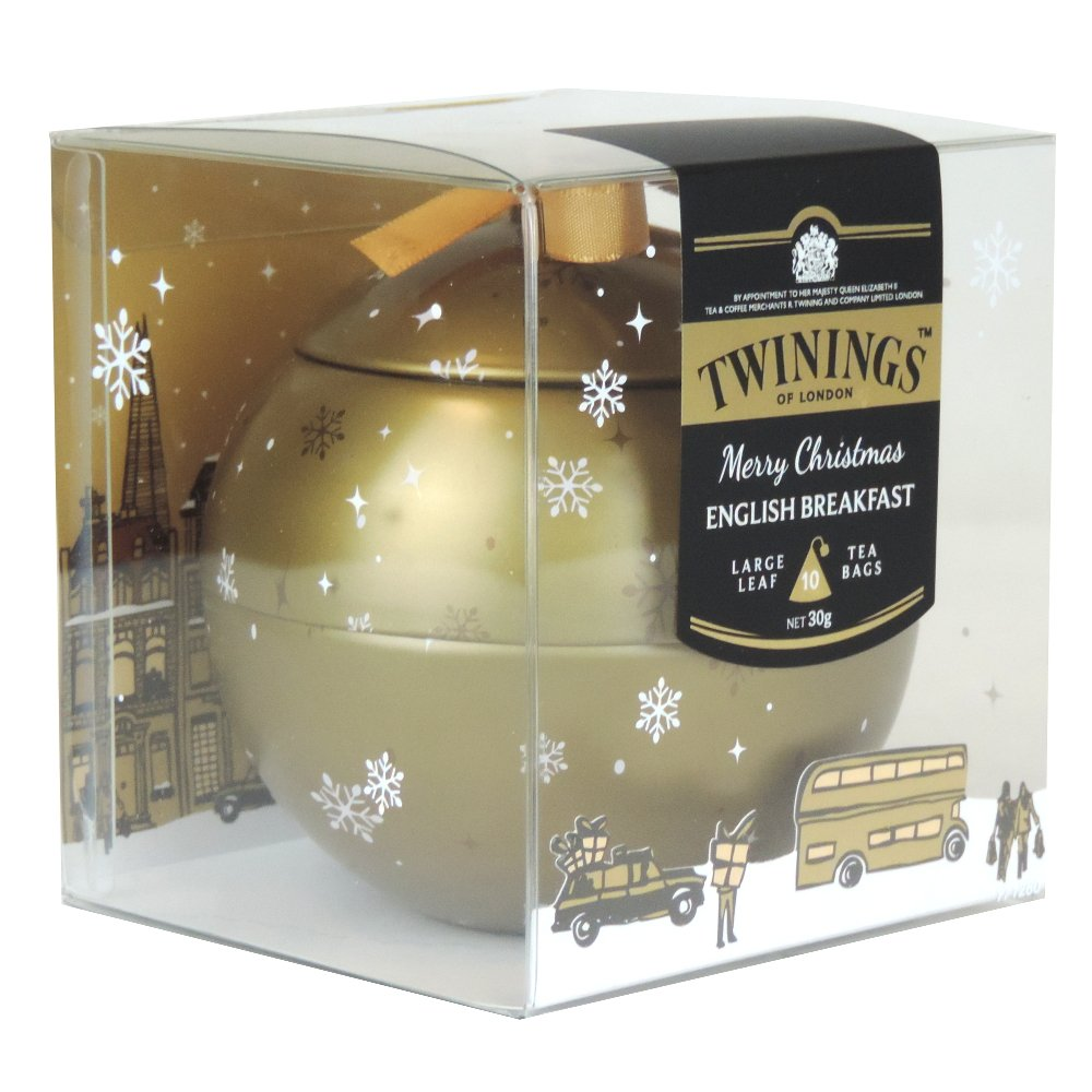 Twinings - Merry Christmas Bauble - English Breakfast 10 Bags - 30g (Case of 6)
