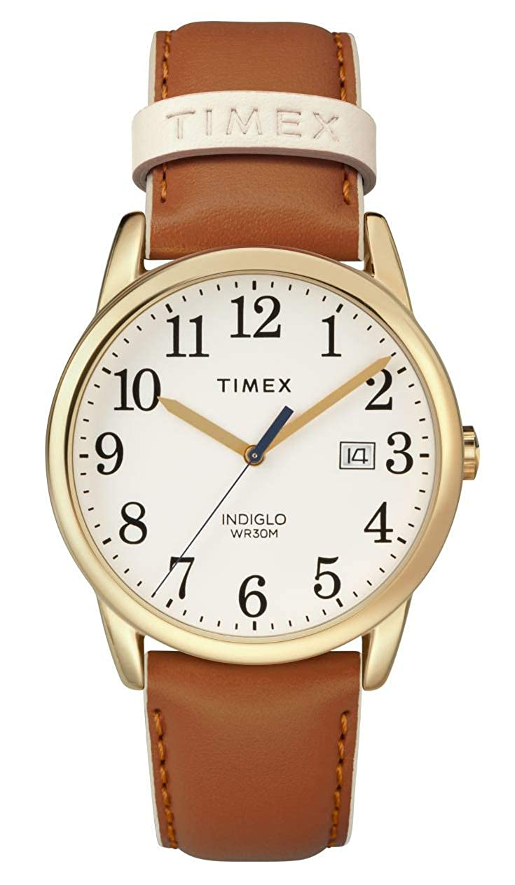 79f6d4694 Amazon.com: Timex Women's TW2R62700 Easy Reader 38mm Brown/Gold-Tone  Leather Strap Watch: Timex: Watches