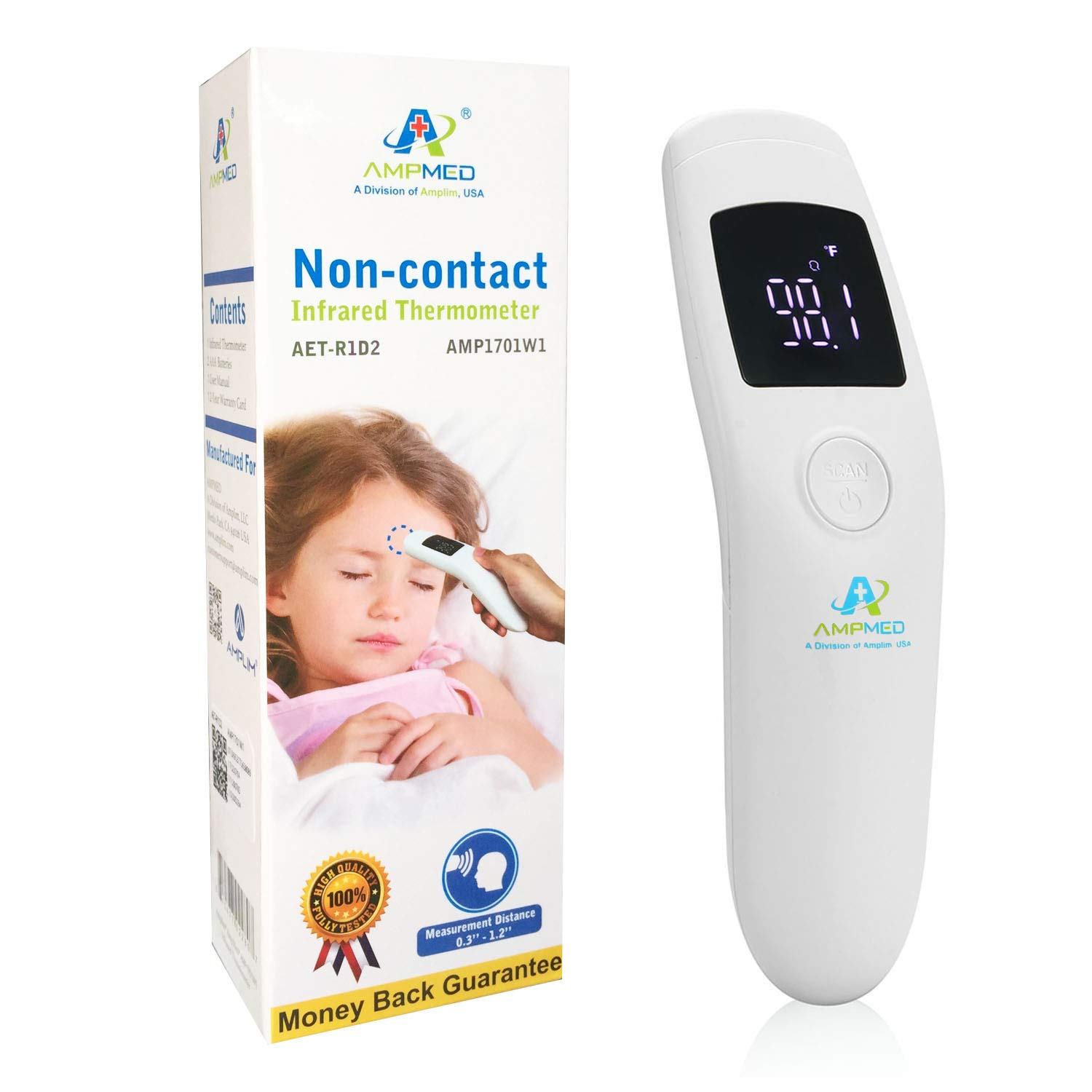 Amplim Medical Hospital Grade Non Contact Infrared Forehead Thermometer BabyKidInfantToddlerChildAdultProfessionalClinical Digital Thermometer Online at Kapruka | Product# gsitem1425