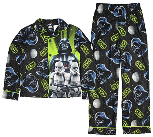 Front 6 Magazine (Star Wars Darth Vader Stormtrooper Boys Flannel Coat Pajama Set Size Small 6/7)