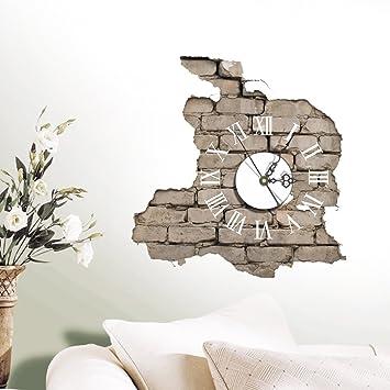 Dngdom 3D kreative Wanduhr DIY Wandtattoo Uhr (2): Amazon.de ...