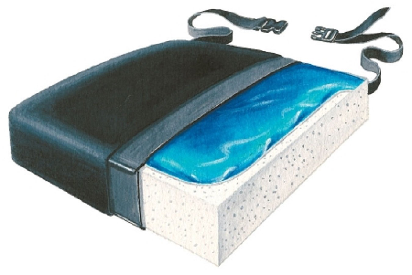 Skil-Care Seat Cushion 16 X 18 X 2-1/2 Inch Gel / Foam