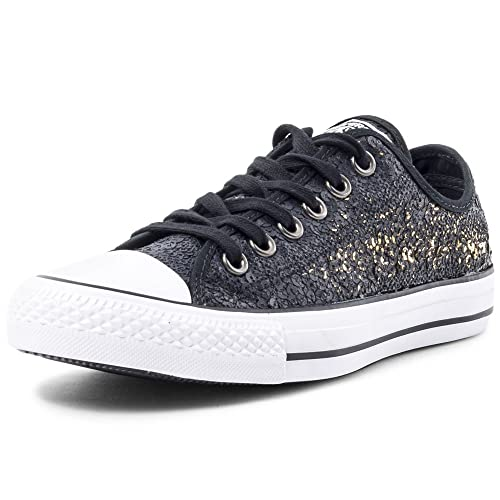 9f64bc16d853 Converse Women s Chuck Taylor All Star Ox Black White Gold 551554C-001  Black Gold White 7 B(M) US  Buy Online at Low Prices in India - Amazon.in