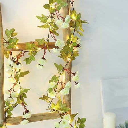 FunPa Flower Garland LED, 6.56ft 20 LED Rosas Luces de Hadas ...