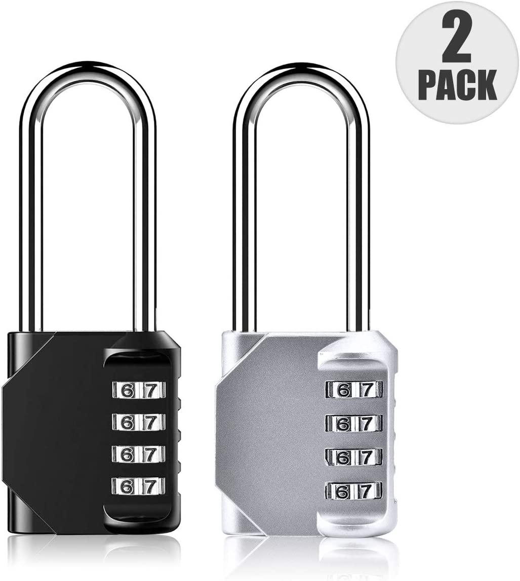 Combination Padlock 4-Digit Combination Lock Toolbox Gym for Sheds