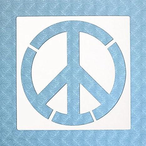 Stencil por la Bodhi tribe- símbolo de la Paz Yoga plantilla ...