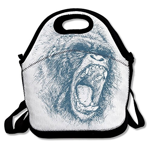 WOXIANJIN Lunch Bag For Men Lunch Bag For Women Lowland African Gorilla Lunch Bag Lunch Box Food Bag Lunch Bag For Adults Lunch Bag For Kids