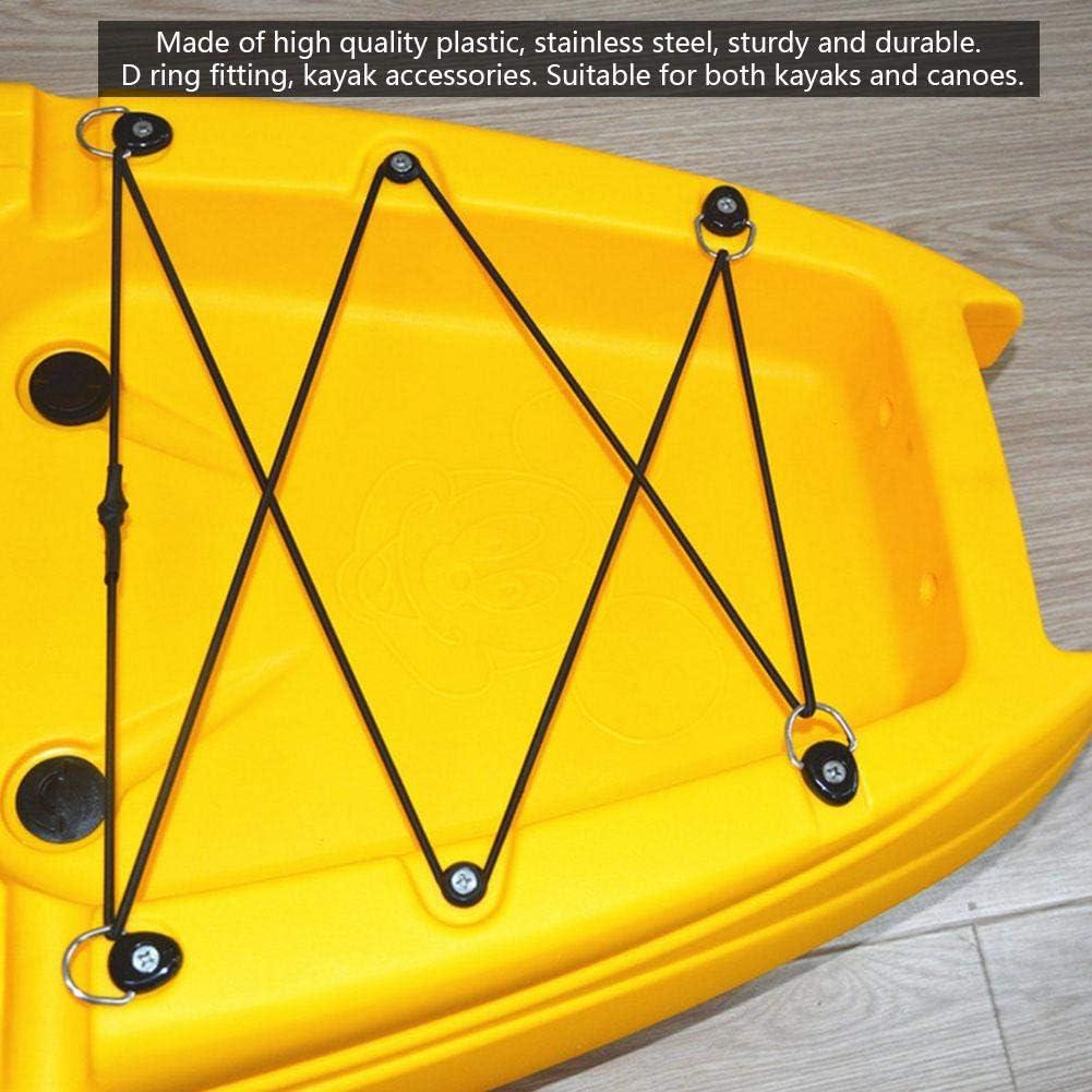 10Pcs 304 Stainless Steel Canoe Kayak Boat D-Ring Tie Down Loop Deck Fitting
