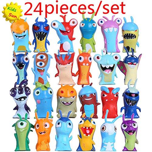 New 24pcs/set 5cm Anime Cartoon Slugterra Mini PVC Action Figures Toys Dolls Child Toys