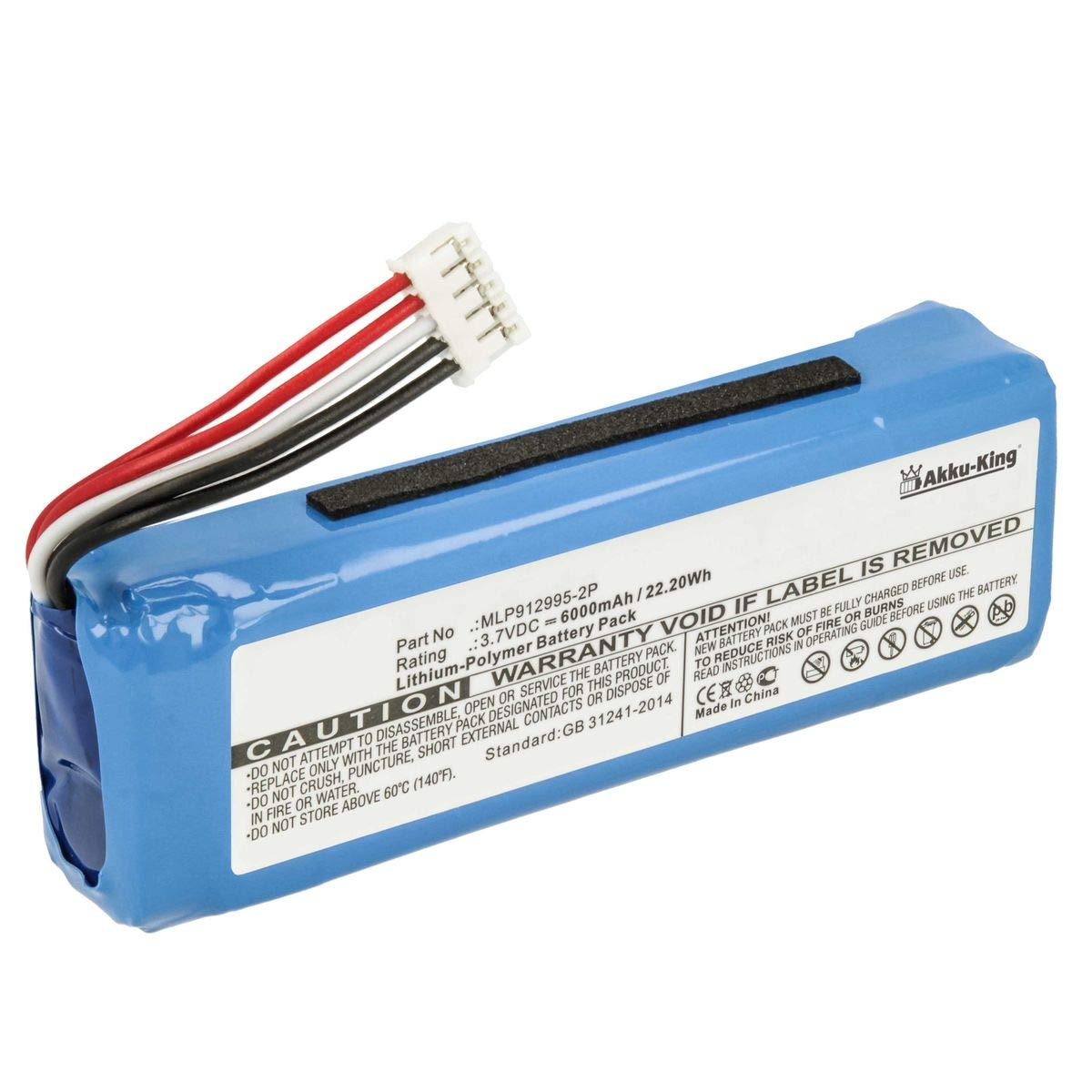 3.7V Battery for JBL Charge 2 Premium Cell 6000mAh Li-Polymer New UK