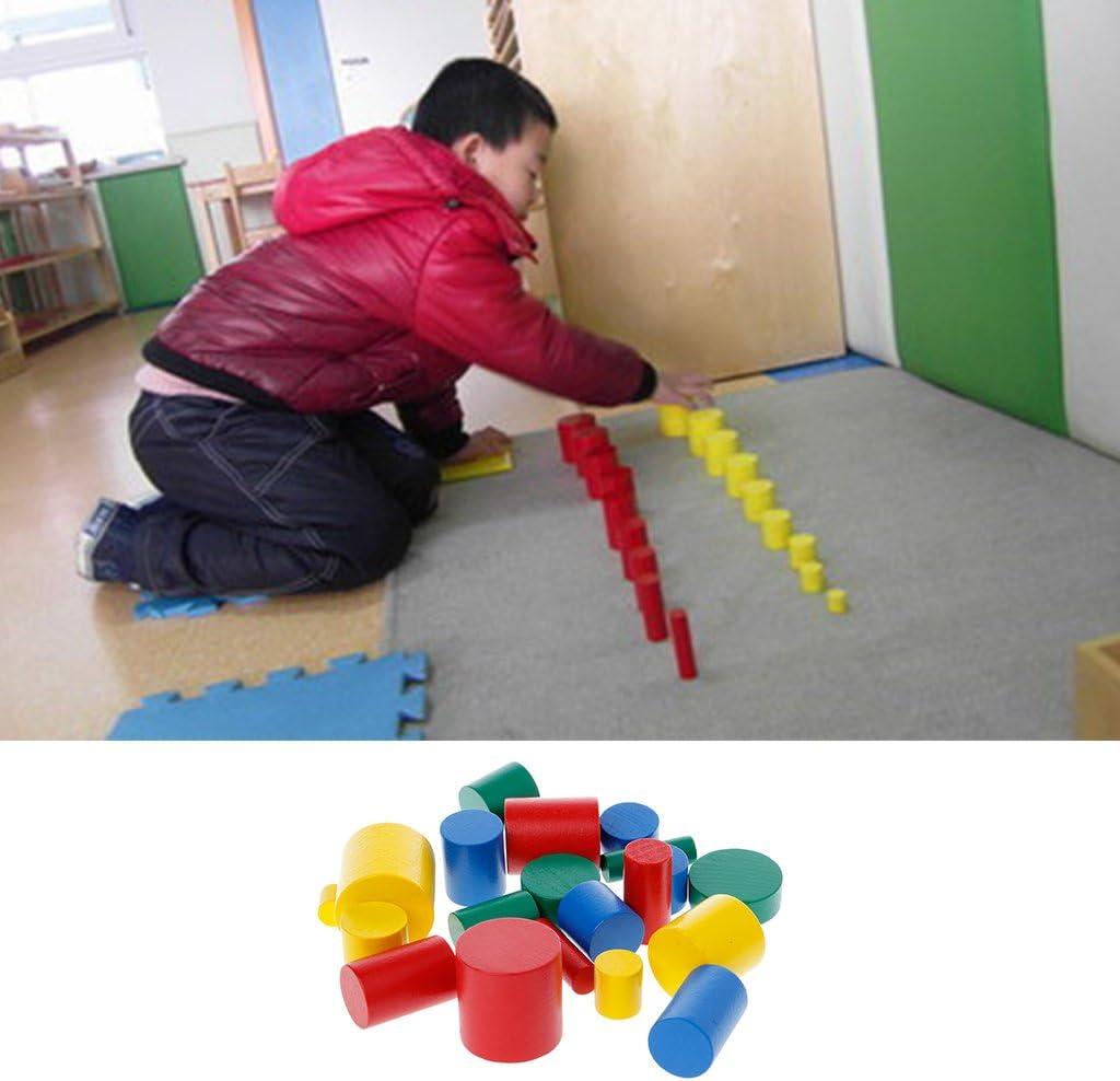 Cilindri di Legno Giocattoli educativi Regalo per Bambini Bambini Xuniu Montessori Kids Early Learning Toy