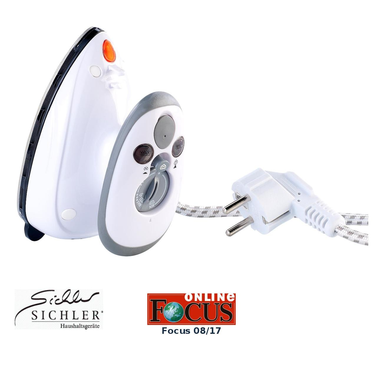 Sichler Haushaltsgeräte - Ferro da stiro da viaggio, 230/120 V NC5709-944