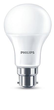 Philips B22 de bayoneta 11 W LED tipo bombilla, luz blanca cálida
