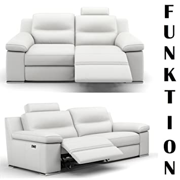 heimkino sessel ledersofa relaxsofa sofa funktionssofa couch tv 3er