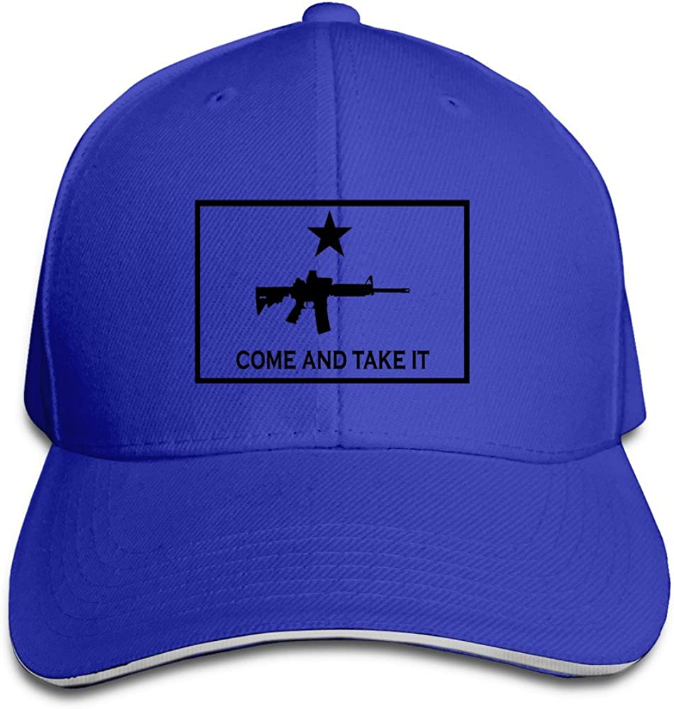 Baseball Black AR-15 Come and Take It Sandwich Hats for Man