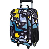 Kids Suitcase, Boys Rolling Luggage with Wheels - Dinosaur
