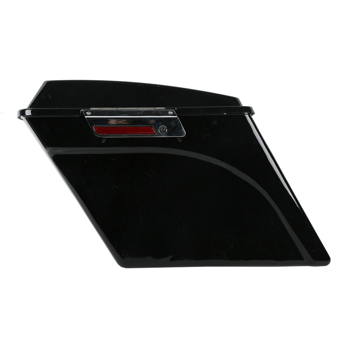XFMT Vivid Black 5 Inch Stretched Extended Saddlebags with Lid Latch Keys Compatible with Harley Touring FLH FLT Electra Glide Road king Ultra Street 1994-2013