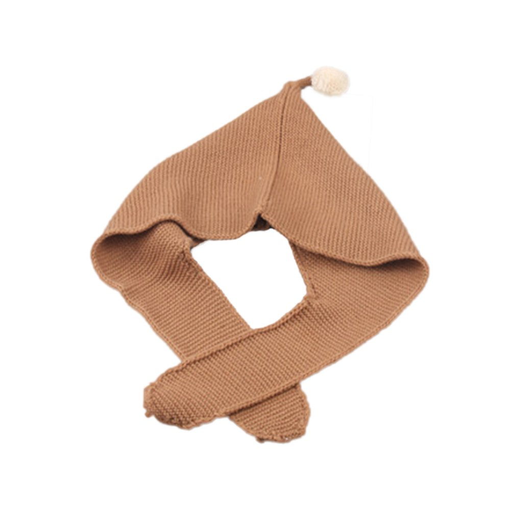 Infgreate Stylish Warm Hat Cute Baby Boys Girls Warm Soft Winter Knitting Cap Ear Protector Hat Ball Decor
