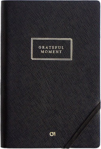 GRATEFUL MOMENT JOURNAL - Best Daily & Monthly 2018 Planner Full of Inspirational Quotes - Boost Productivity, Self Awareness and Gratitude - Undated Compact Portable Organizer (Black ~ 4.5 x 7)