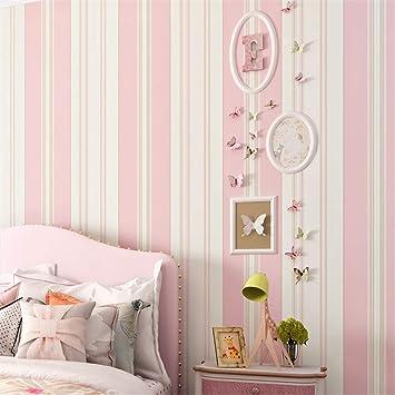 Uberlegen Lzxydbz Tapeten Kinderzimmer Tapete Schlafzimmer Romantisch Rosa Prinzessin  Zimmer Grün Vlies Streifen Tapete Rolle