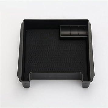 Bandeja de almacenamiento para reposabrazos negra para S60 S60L V60 XC60 2009 – 2017 con alfombrilla y logotipo de accesorios de coche