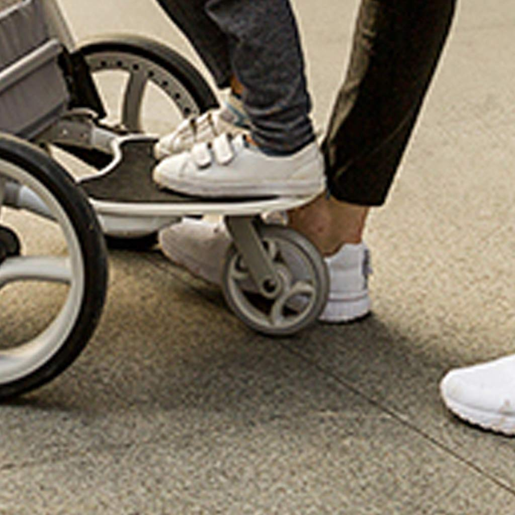 DGDG Buggy Board, Baby Stroller Accessory Pedal Mini Trailer Stand Board Trailer Car Stroller Pedal, White by DGDG (Image #2)