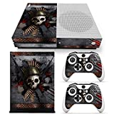 Cheap ZoomHit Xbox One S Console Skin Decal Sticker Skull Metal + 2 Controller Skins Set (S Only)