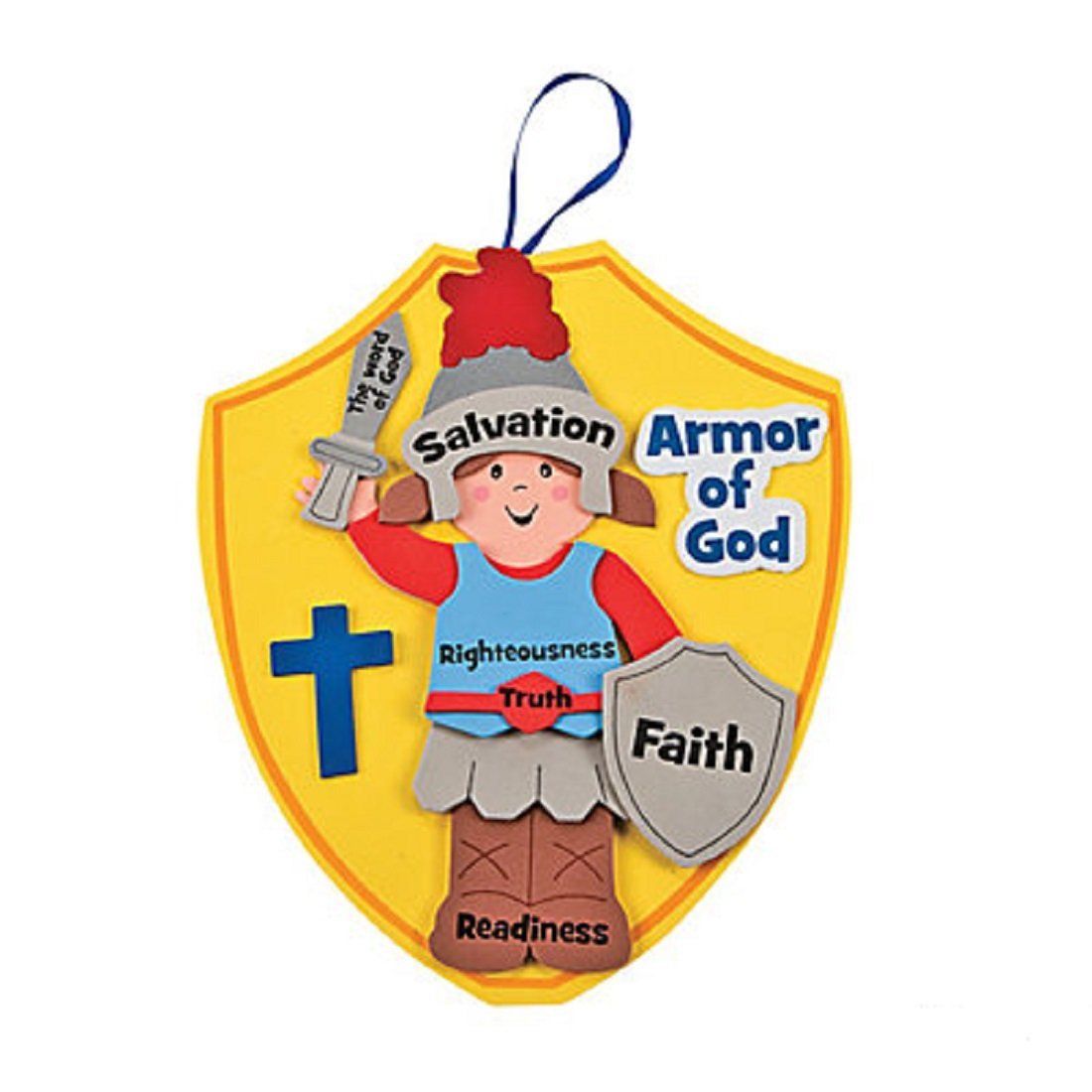 amazon com fun express armor of god kids craft kit 1 dozen