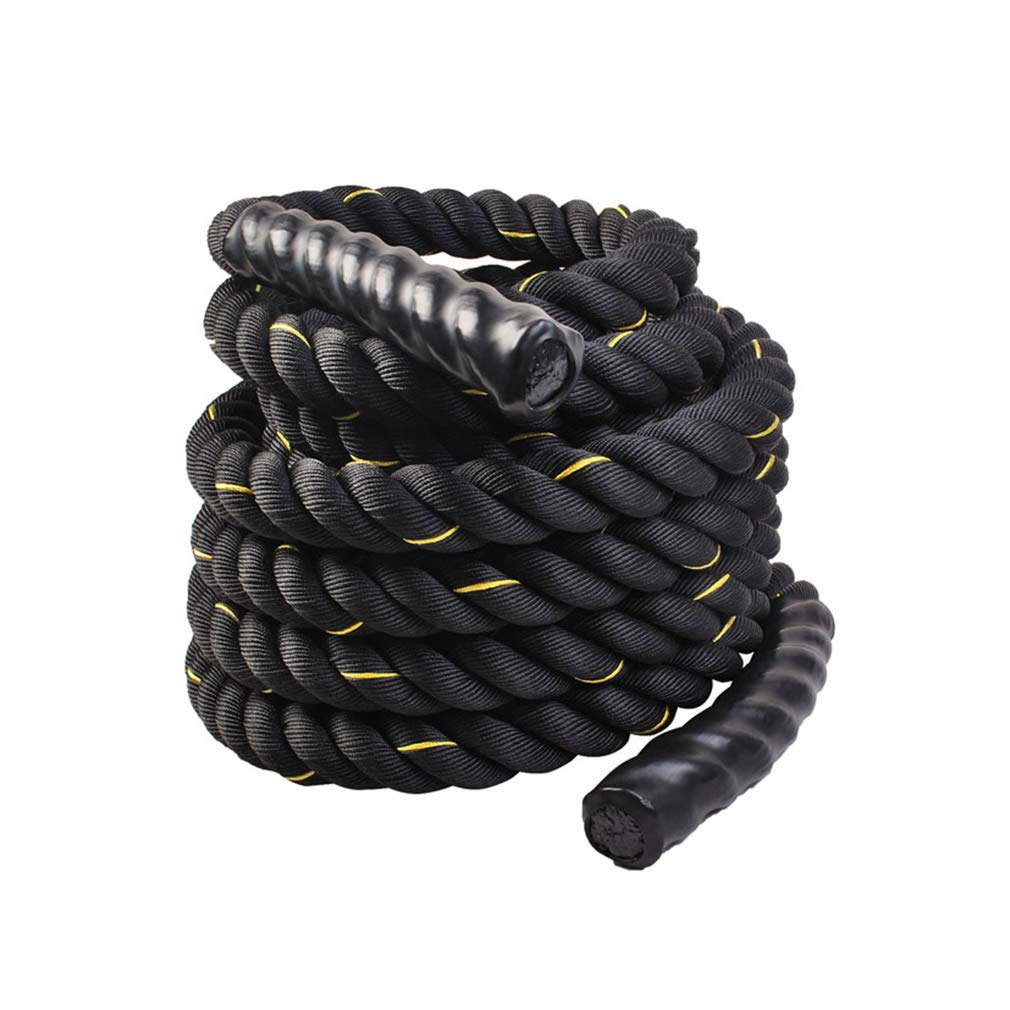 UFC Fitness Training Rope Polyester Fighting Rope Fitness Thick Rope Muscle Big Reins Power Rope Battle Rope 9m, 12m, 15m (Color : Diameter 38cm, Size : 9m)