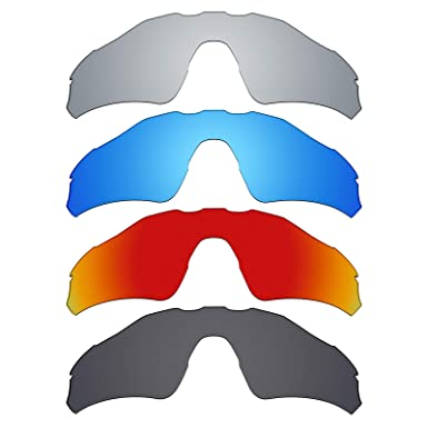8a7b8512781 Image Unavailable. Image not available for. Color  Mryok 4 Pair Polarized  Replacement Lenses for Oakley Radar EV Path Sunglass - Stealth Black