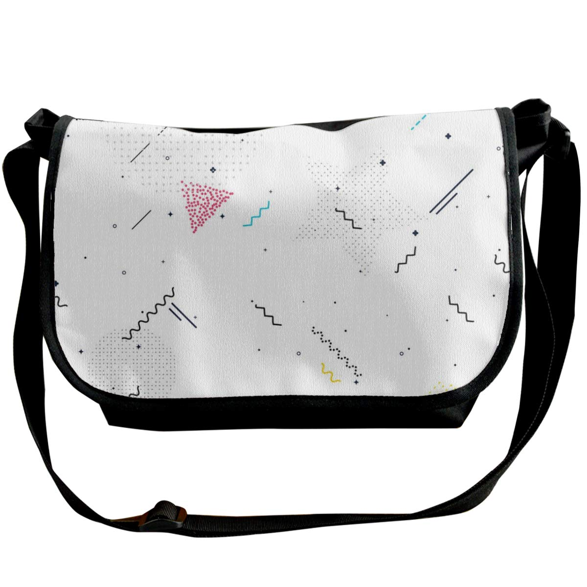 Sourde Graphics And Wavy Lines Composed Of Wave Points Messenger Bag Handbag Invisible Wallet Female Shoulder Bag
