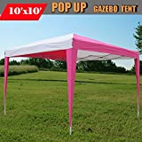 10'x10′ Pop Up Canopy Party Tent Instant Gazebo EZ CS N – Pink/White – By DELTA Canopies Review