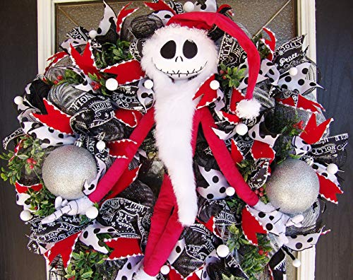 XL Deluxe Sandy Claws Jack Skellington Christmas Wreath,